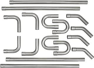 "Universal 2.5"" Custom Exhaust Tubing Mandrel Bend Pipe Straight & U-Bend Kit"