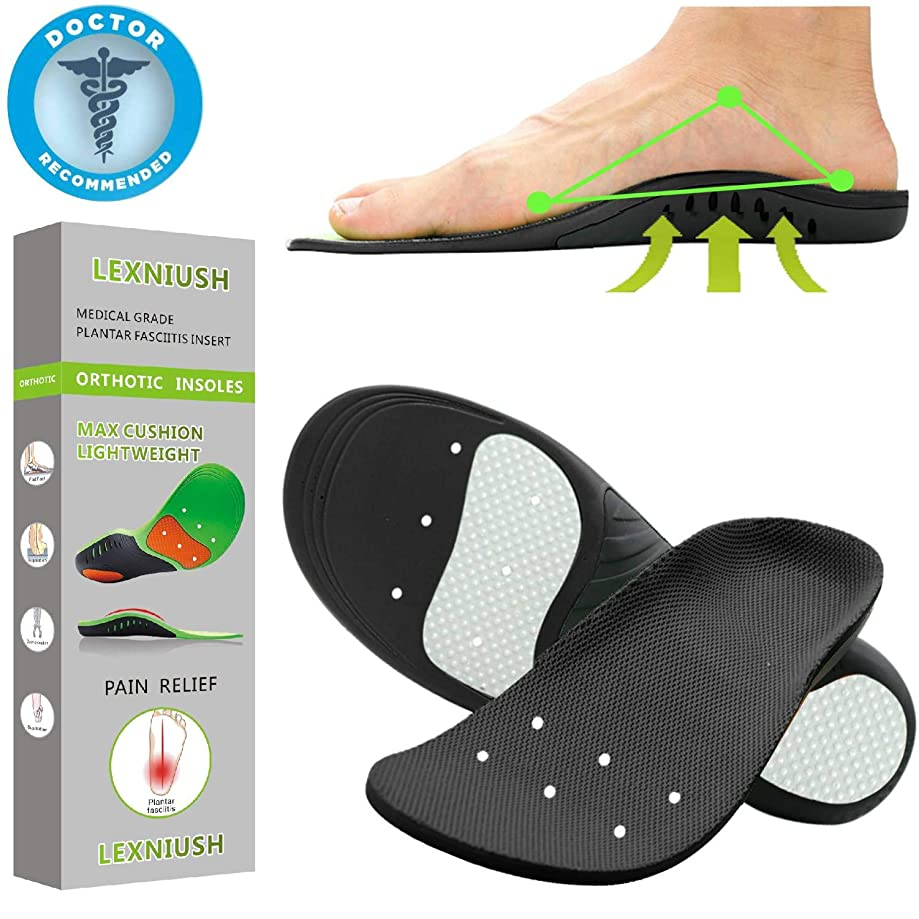 Professional Plantar Fasciitis Shoe Inserts Women & Men - Insoles with Arch Support Shoe Insert Orthotic Inserts Providing Cushioning, Shoe Insoles for Flat Feet & Foot Pain - for Men & Women