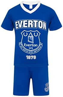 Everton FC Official Soccer Gift Mens Short Pajamas Loungewear