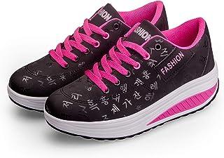 Casual Confortevole Donne Sneaker Fitness Cunei Piattaforma Scarpe Running Jogging Moda Passeggio Ginnastica