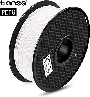 TIANSE Filamento de PETG para la impresora 3D / Pluma 3d, 1 kg 1,75 mm(Blanco)
