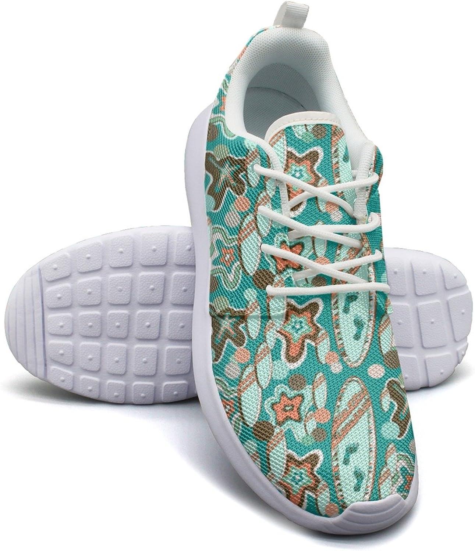 ERSER Abstract Summer Beach Surfboards Running Tennis shoes for Women
