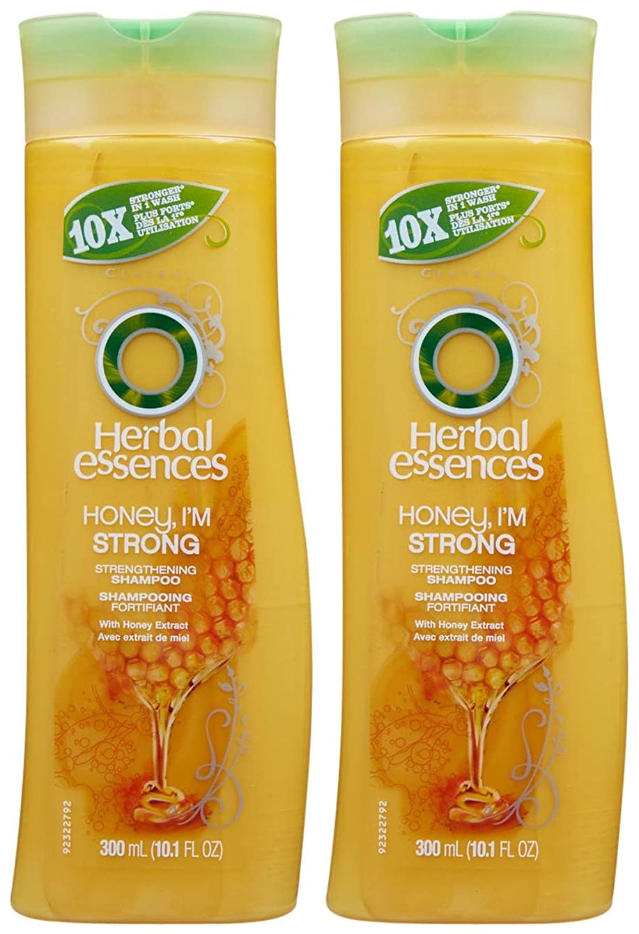 まさにうがい薬含むHerbal Essences Honey, I'm Strong Strengthening Hair Shampoo 10.1 oz by Herbal Essences