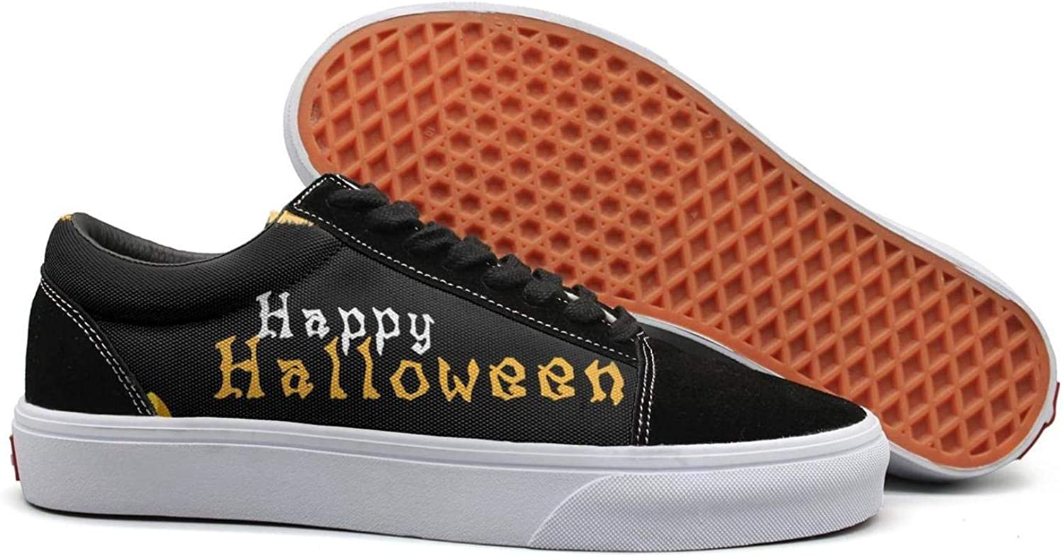 Wuixkas Happy Halloween Festival Womens Canvas Upper Sneakers Lace up Climbing Fashion Loafer Canvas shoes