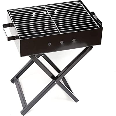 NANSONG Charcoal Grill , Portable Charcoal Grill Folding BBQ Grill Stainless Steel Hibachi Grill for Tabletop Camping Grill Charcoal Small Grill for Outdoor Barbecues, Picnic, Cooking