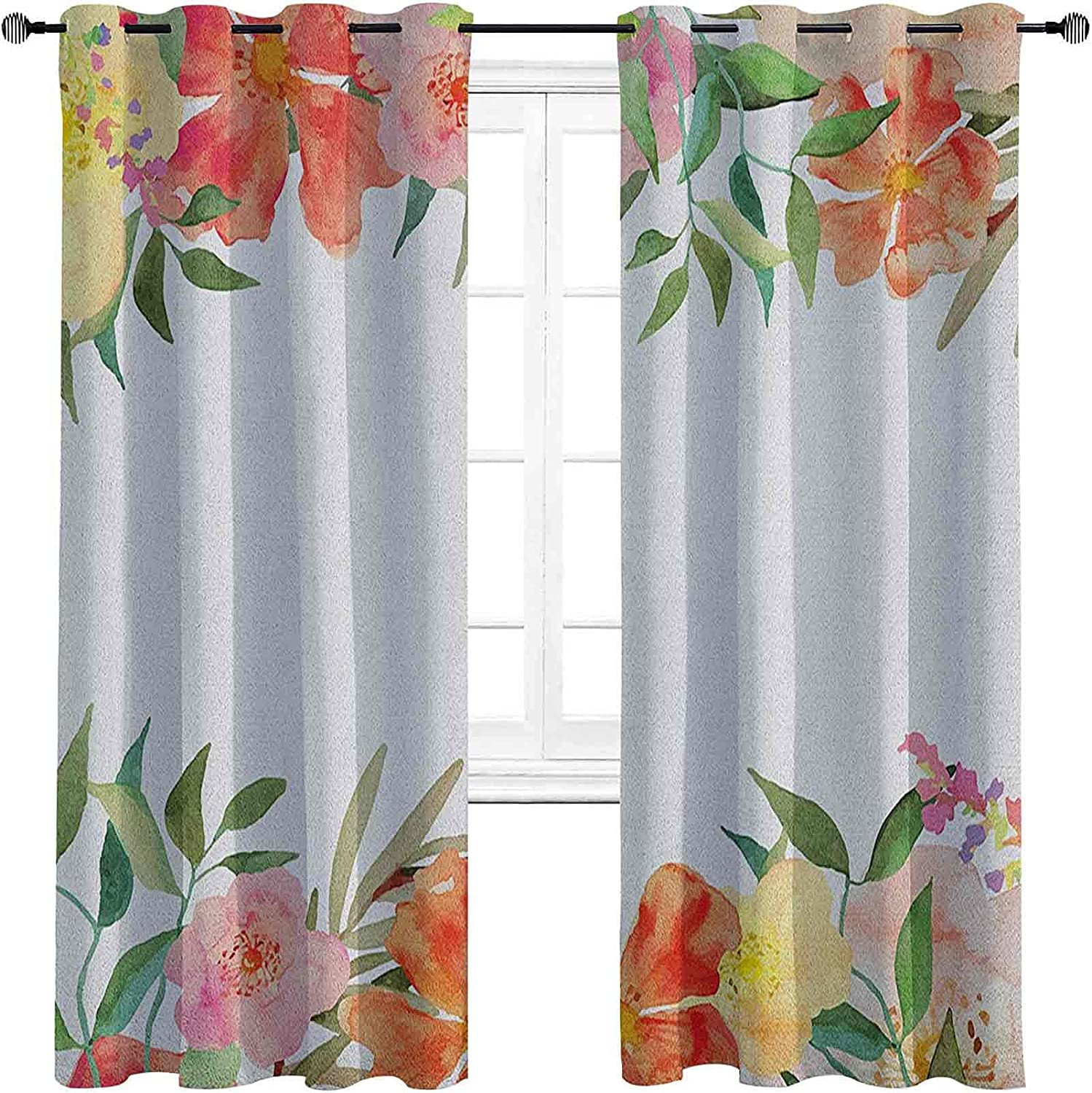 NEW before selling Floral 90%-99% Blackout Lining safety Curtain Soft Flower with Petals