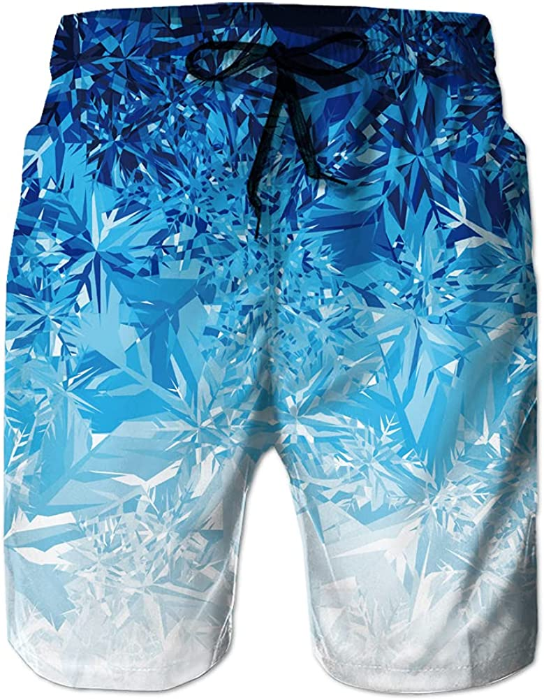 Men's Swim Trunks Puerto Rico Frog and Lotus Design Quick Dry Beach Shorts with Pockets