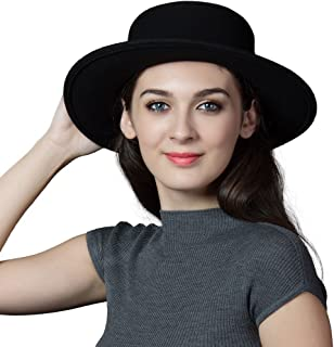 Comhats 2019 New Wool Felt Cloche Fedora Hat Ladies Church Derby Party Fashion Winter
