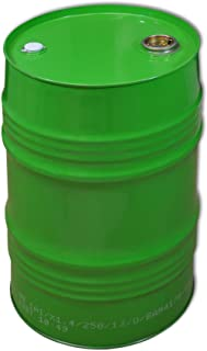 Wilai GmbH Barrile de Metal 62 L, tonel metálico, Verde (23027)