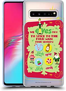 Official Elf Movie Food Groups Graphics 1 Soft Gel Case Compatible for Samsung Galaxy S10 5G
