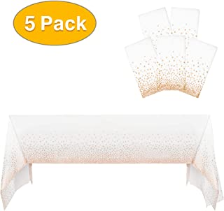 Best rose gold tablecloth plastic Reviews