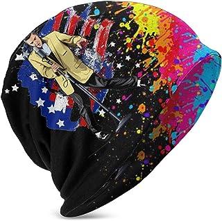 LREFON En el Escenario con El-Vis PRES-Ley Kids Casual Beanie Hat Winter Warm Knit Ski Beanies Skull Cap