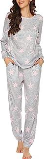 Ekouaer Womens Pajama Set V-Neck Sleeveless Sleepwear Nightwear Cami Top with Long Pants Sexy Pjs Sets