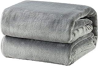 Bedsure Fleece Blanket King Size Grey Lightweight Super Soft Cozy Luxury Bed Blanket Microfiber