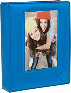 "KODAK 2x3 Photo Album – 64-Pocket Mini Photo Album w/ Transparent Window Cover for 2""x3"" ZINK Zero Ink Photo Paper – Perfect for KODAK Printomatic, Mini Shot & Mini 2 Instant Cameras – Blue"