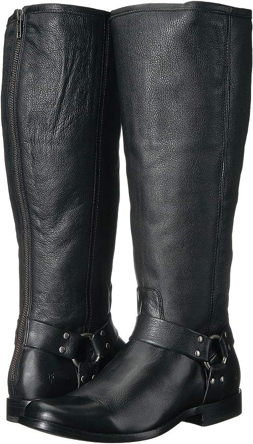 Black Extended Soft Vintage Leather