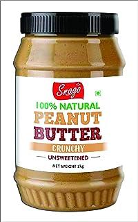 Snago 100% Natural Peanut Butter - Crunchy - 1kg