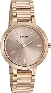 Sonata Play Analog Rose Gold Dial Women's Watch 8141WM01/NN8141WM01
