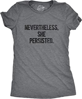 Womens Nevertheless She Persisted Funny Political Congress Senate T Shirt