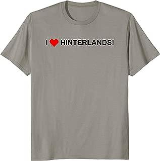 I Heart Hinterlands! Tourist Souvenir T-Shirt VFD