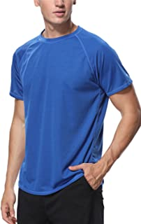 Men's Rash Guard Short Sleeve Swim Shirts Loose Fit Surf Swimming Shirts
