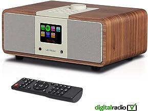LEMEGA M3i Radio por Internet 2.1, Digital, WLAN, Reproductor en Red, Dab/Dab+/FM con RDS, Spotify Connect, Bluetooth, AUX, Puerto MP3-USB, Despertador, Visualización Hora, Modo sueño - Nogal
