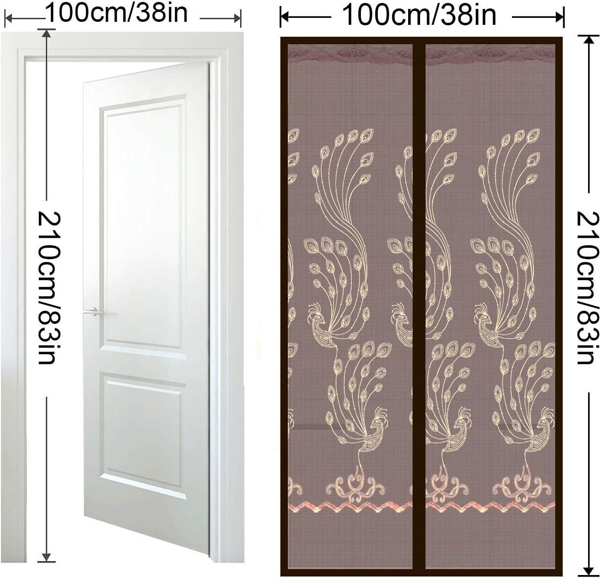 AIZESI Screens Door Magnet Door Net Door Mesh Door Screens Magnets Heavy Duty Patio Door Screen Magnetic Door Curtain Durable Fiberglass Mesh Curtain Hanging Screen Door 38x82 Inches