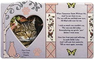BANBERRY DESIGNS Cat Memorial Message Photo Frame Remembrance Plaque