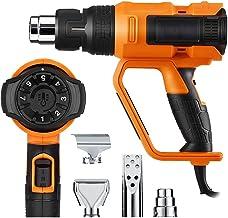 Pistola ad Aria Calda, 2000W Pistola Termica Elettrica 220-240V, 50 ℃~600 ℃ Professionale Temperatura Regolabile Pistola d...