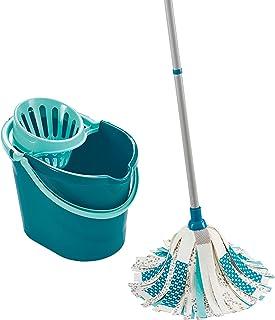 Leifheit 52110 Set Power Mop 3 en 1, Plastique, Turquoise, 45 x 35 x 72 cm