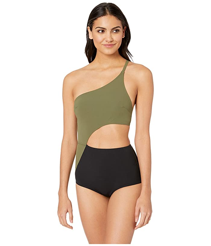 FLAGPOLE Ali One-Piece (Olive/Black) Women
