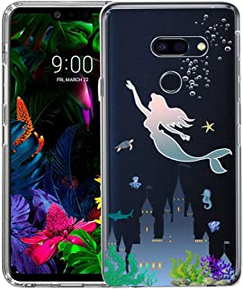 LG G8 ThinQ Case, Unov Clear with Design Soft TPU Shock Absorption Slim Embossed Pattern Protective Back Cover(Mermaid Castle)