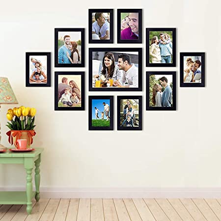 Art Street Primo Wall Photo Frame Set of 11 Black Picture Frames (Hanging Accessories Included Black_6 Unit 4X6, 4 Units 5X7, 1 Unit 8X10 Inch, Black)