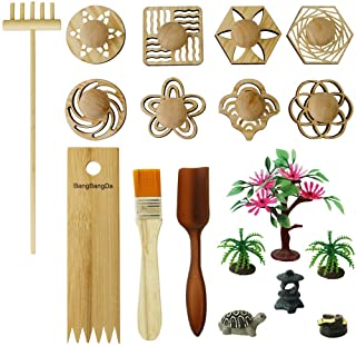 BangBangDa Zen Garden Stamps Rake Gifts - Patterns Sand Play Therapy Kit Meditation Tool Accessories Supplier Mini Office ...