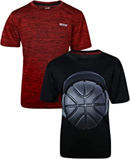 Boys Performance Quick Dry Athletic Sports T-Shirt (2 Pack)