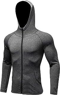 SGJFZD Men's Quick-Dry Gym Workout Hoodie Jacket Fashion Design Yoga Sports Running Sweatshirt (Color : Gray, Size : XL)
