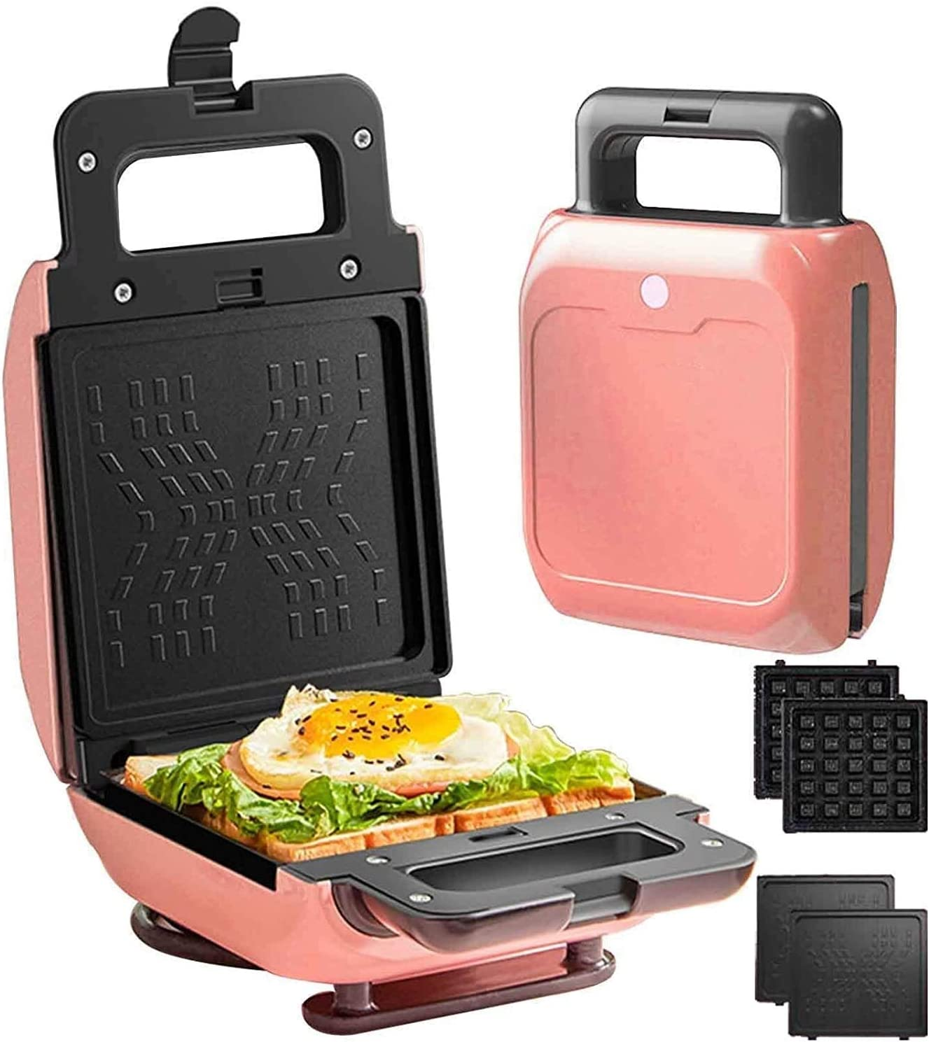 toasters Waffle Maker Challenge the lowest price Electric Max 59% OFF 2 Sandwich Toast 1 Iron in