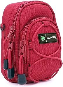 BAXXTAR NEW  L  Digital Camera Bag Case  red  for Lumix TZ200 TZ95 TZ9...
