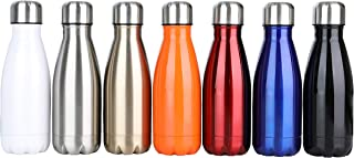 DKASA Stainless Steel Vacuum Insulated Water Bottle,Cola Shaped,Business Convenience,Perfect for Outdoor Sports Camping Hiking Cycling, Keeps Your Drink Hot & Cold,Small Size,9oz
