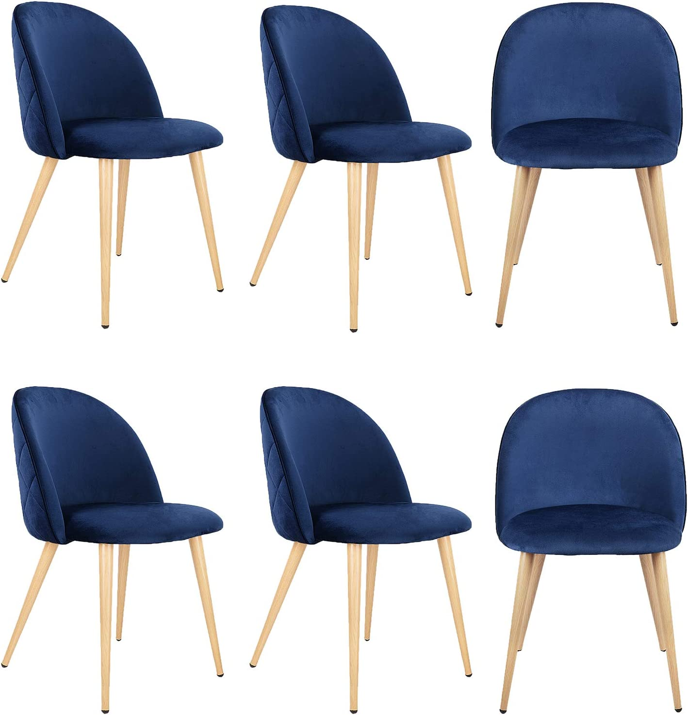 Set of お求めやすく価格改定 6 安心の実績 高価 買取 強化中 Retro Velvet Chairs Uphols Fabric Lounge Dining