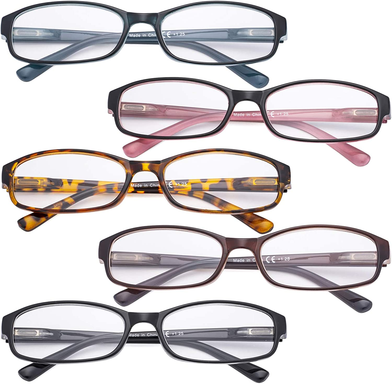 CessBlu Ladies Reading Glasses 20 Pairs Fashion Reader Eyeglasses with  Spring Hinge for Women
