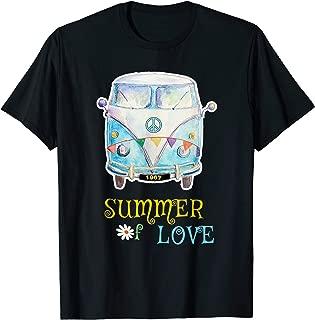 1967 Summer of Love Hippie Peace Camper Van T-Shirt