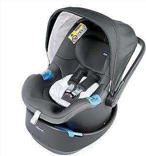 Chicco Oasys 0+ - Silla de coche Grupo 0 con sistema de alarma Bebècare, color gris (Cool Grey)
