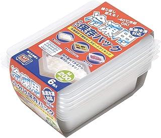 ストリックスデザイン 冷凍用 小分け 保存 パック 半透明 M 200ml 冷凍保存から電子レンジまで HT-131 6個入
