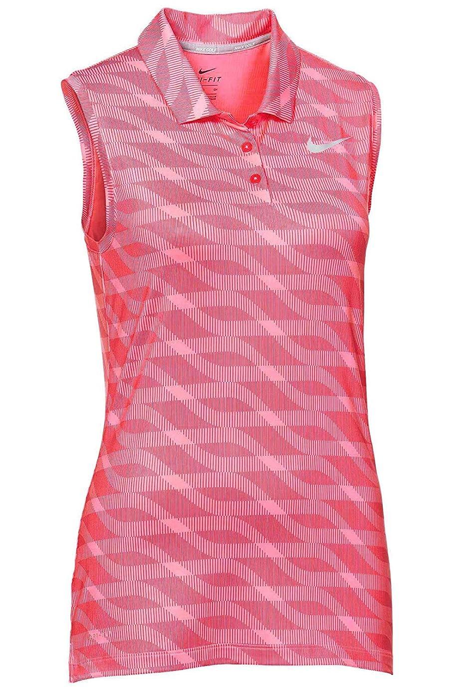 NIKE Women's Dry Sleeveless Golf Polo Sunset Pulse