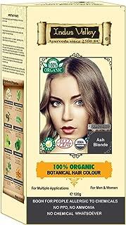 Indus Valley 100% Botanical 100% Organic Ash Blonde Natural Hair Dye for Sensitive Skin, Pregnant women, Lactating women & For Allergy Sufferers- 120 gm