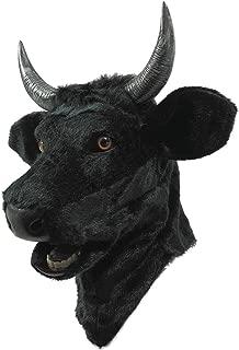 Forum Novelties Unisex-Adults Moving Mouth Mask-Bull, Black, Standard