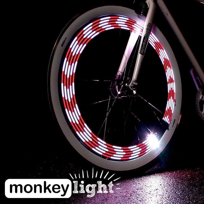Monkey Light M210R  USB Rechargeable Battery 80 Lumen Full color Bike Wheel Tire Spoke Light Accessory 10 LED Waterproof UltraDurable Assembled in USA