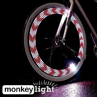 Monkey Light M210R - USB Rechargeable Battery 80 Lumen Full Color Bike Wheel Tire Spoke Light Accessory 10 LED Waterproof Ultra-Durable Assembled in USA