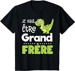 Enfant Annonce Grossesse Nouveau Grand et Petit Frère Naissance T-Shirt